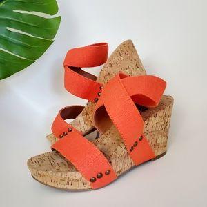 Lucky Brand Mekayla Cork Wedge Sandals